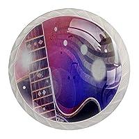 ドレッサー引き出し用キャビネットノブ4キャビネットハンドルホームオフィス用プルプル食器棚ギター音符要約