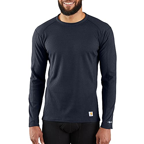 Carhartt Men's Base Force Midweight Classic Crew, Navy, Small