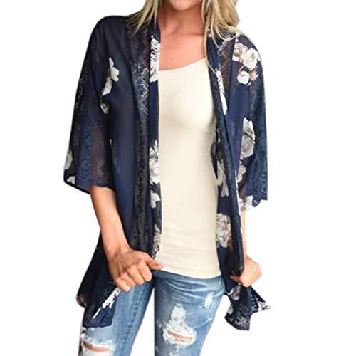 Adelina dames cardigan zomer mode elegante poncho perspectieven bloemenprint vintage casual modieuze completimooie trendy chiffon kimono lange mouwen strand zomermode tuniek outwear
