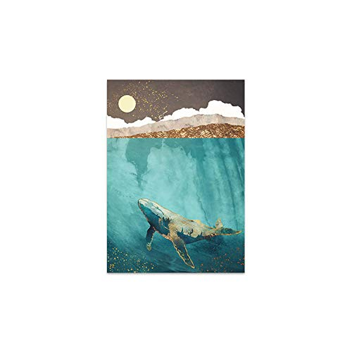 Abkaeh 5D DIY Diamante Pintura para la Familia Paisaje Abstracto Hoja de Oro delfn Ballena Cuadrado Bordado de Diamantes Mosaico de Diamantes de imitacin-A_S Regalo del da de la Madre_40x50