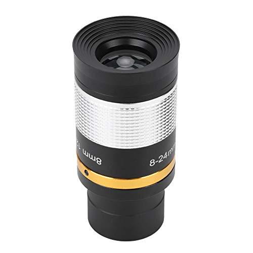 Topiky Ocular con Zoom de 8-24 mm, telescopio Profesional Ocular Telescopio óptico Lente para astronomía Uso astronómico