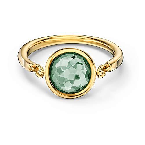 Swarovski - Anillo Tahlia 5560945 para mujer, chapado en oro verde