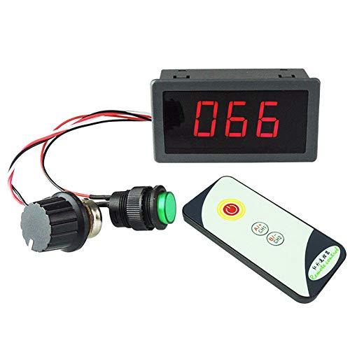DollaTek Controlador de Velocidad del Motor 6V 12V 24V 5A PWM DC con Pantalla Digital LED Regulador de Control Remoto IR
