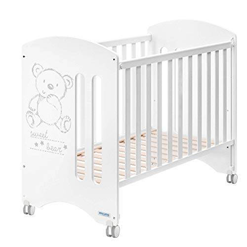 Micuna Sweet Bear Basic - Cuna 120X60, Color Blanco + Kit Colecho CP-1828