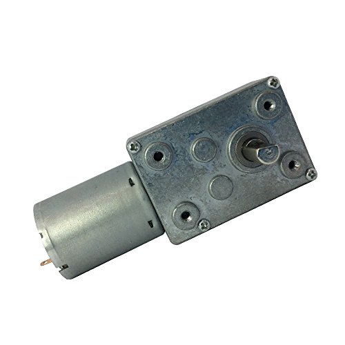 BEMONOC High Torque DC 6V Low Speed 1 RPM Geared Reducer Motor with Worm Gear Box for Robot Parts