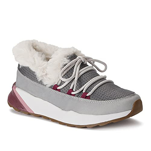 Spyder Women's Aggie Casual Comfort Shoe, Pull-On, Waterproof, Increased Traction, Glacier Grey, Size 7.5