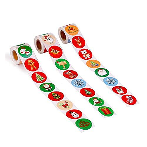 Etiquetas Navidad Adhesivas 1500 Marca RUMUI
