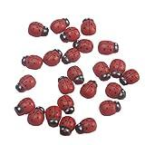 かわいい3Dてんとう虫冷蔵庫冷蔵庫ウォールステッカーパーティー寝室の装飾(赤)