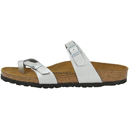 Birkenstock Mayari BF W Sandalo Silver IT 35 (Normale)/EU 35 (Normal)