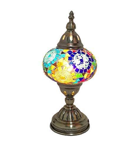 Yjmgrowing Turks mozaïek tafellamp lamp handgemaakte mozaïek glazen bureau tafellampen Marokkaans nachtlampje in Tiffany-stijl voor woonkamerverlichting, E14 (16 * 33 cm)