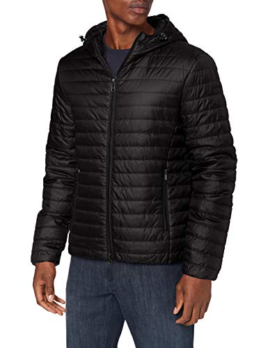 Geox Mens M Wilmer Quilted Jacket, Black, 52