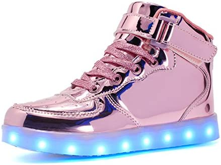 Voovix Kids LED Light up Shoes USB Charging Flashing High top Sneakers for Boys Girls Child product image