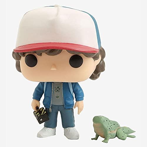 Figuras Pop Stranger Things # 593 Dustin & Dart Figuras De Acción De Vinilo Juguetes 10Cm, Decoración De PVC Modelo Muñeca Regalos para Niños Juguetes con Caja