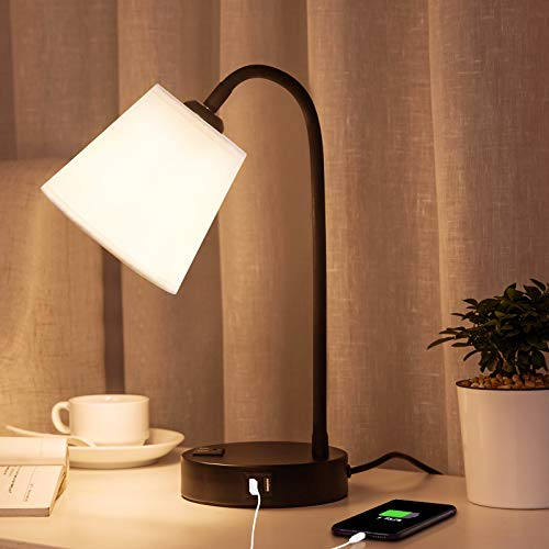 Lifeholder Touch Lamp with Flexible Gooseneck,3 Way Dimmable Table Lamp Include Warm White Edison...