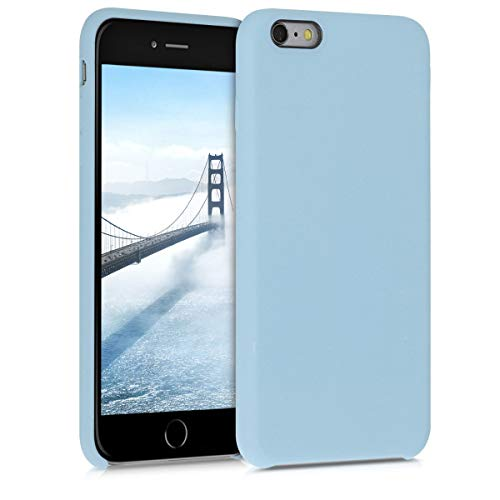 kwmobile Hülle kompatibel mit Apple iPhone 6 Plus / 6S Plus - Handyhülle gummiert - Handy Case in Pastellblau