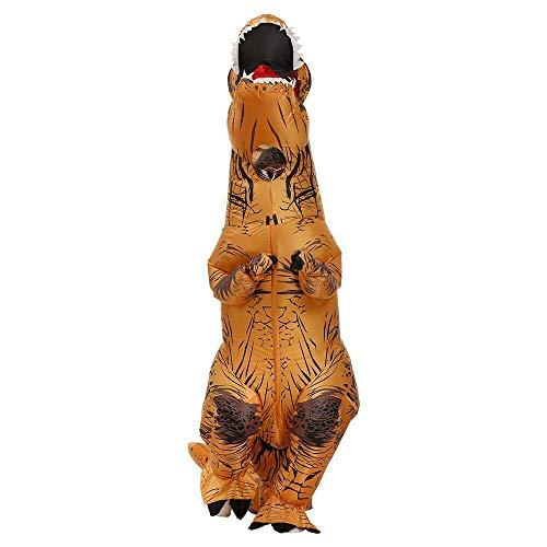 Disfraz inflable de dinosaurio para adulto, color marrón, disfraz de dinosaurio, disfraz para adultos de 1,6-1,8 m