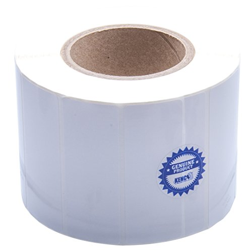 Kenco Premium Inkjet 4? X 1.5? Rectangle High Gloss Paper Roll-Fed Inkjet Labels. Compatible with Primera Color Label Printers and Many Other Printer Brands. Supplied 1600 Labels on a 3? core.