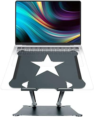 Luxby Laptop Stand Aluminum Foldable Computer Stand with Laptop Cooling Pad Ergonomic Adjustable product image
