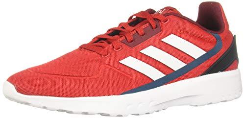 Adidas NEBZED, Zapatillas Running Hombre, Rojo (Scarlet/FTWR White/Collegiate Burgundy), 44 2/3 EU