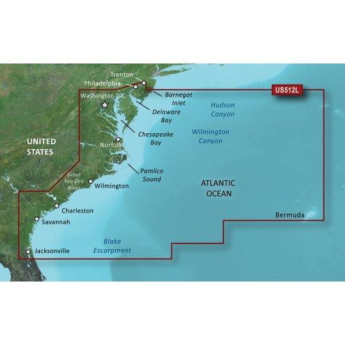 GARMIN VUS512L Mid Atlantic BLUECHART G2 Vision