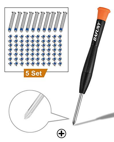 DAFUNY Replacement Screws 5 Set Compatible with MacBook Pro and Phillips Screwdriver for A1278 A1286 A1297, 2009 2010 2011 and 2012 Version
