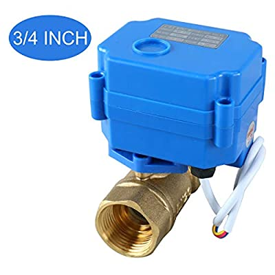 "Homend Motorized Ball Valve, 1/2"" Brass Electrical Ball Valve with Full Port, 9-24V AC/DC 3 Wire Setup (1/2"") from Homend"