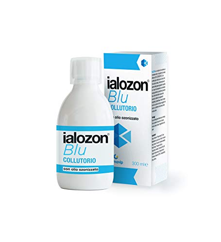 Gemavip Ialozon Blu Collutorio con olio d'oliva ozonizzato, acido ialuronico, aloe vera, vitamina e bicarbonato di sodio (1)