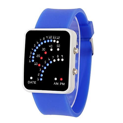 Obestseller Uhren Frauen Herren futuristischen Stil Multicolor LED Sport Armbanduhr|Smartwatches