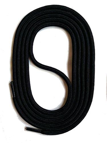 SNORS Schnürsenkel SCHWARZ RUND 3mm, 90cm reißfest, Made in Germany Rundsenkel aus Polyester für Sportschuhe Sneaker Turnschuhe Laufschuhe und Damenschuhe