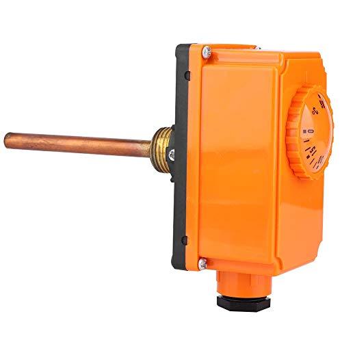 0-90 ° C Controlador de Temperatura de Inicio de Alta Temperatura Tubería de Agua Caliente Tubería Termostato Interruptor de Control G1/2 Rosca Macho