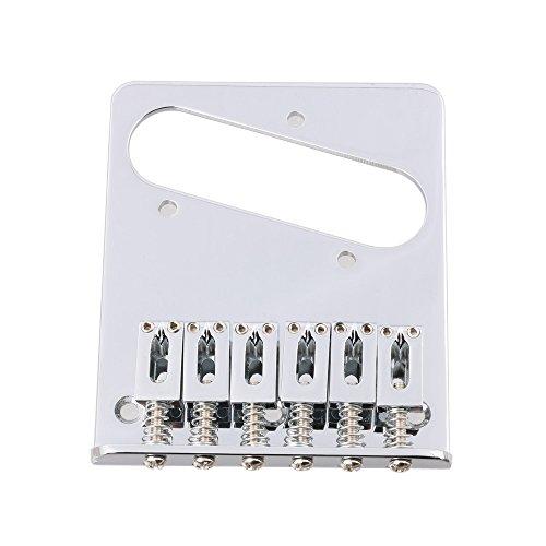 lyws 6Saddle Cenicero puente para Fender Telecaster Tele Guitarra eléctrica, Chorme