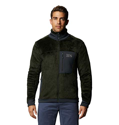 Mountain Hardwear Men's Monkey Fleece Jacket for Hiking, Skiing, and Everyday - Black Sage - Small