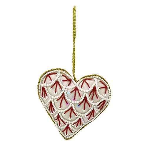 Handmade Coeur décoratif traditionnel blanc perlé porte Mûr Accueil Decor