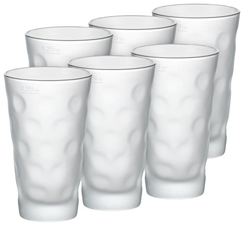 Premium Dubbeglas für Schoppen (6 Stück 0,5l satiniert/matt) - Schoppenglas zum Genuss von Pfälzer Wein, Schorle oder Riesling original Pfalz Dubbegläser
