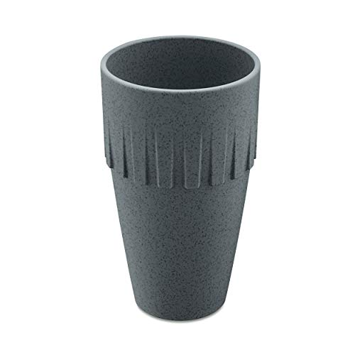 Koziol Becher Latte Connect, Kaffeebecher, Tasse, Kaffeetasse, Thermoplastischer Kunststoff, Organic Deep Grey, 400 ml, 4081673