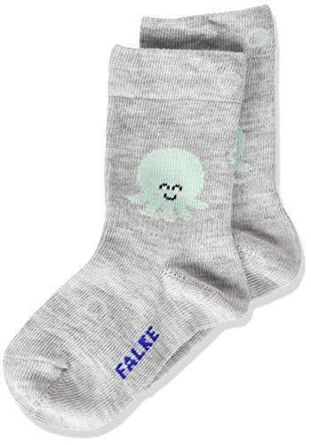 FALKE Unisex Baby Squid Socken, grau (storm grey 3820), 62-68