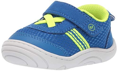 Stride Rite Baby Jackson Toddler Girl's and Boy's Casual Sneaker First Walker Shoe, Blue, 3 M US Infant