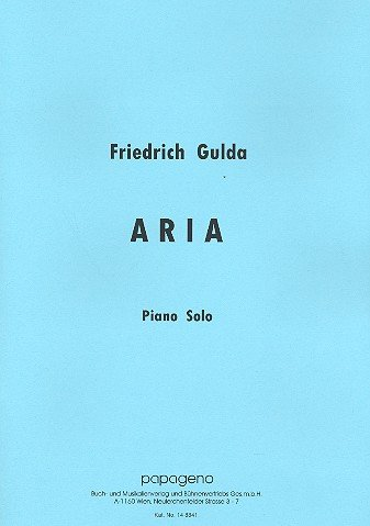 Aria: für Klavier