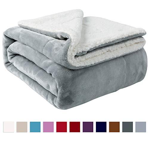 NANPIPER Sherpa Blanket Twin Thick Warm Blanket...