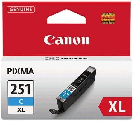 Canon CLI251XLC X-Large Ink Tank, CLI-251XL, Cyan - in Retail Packaging