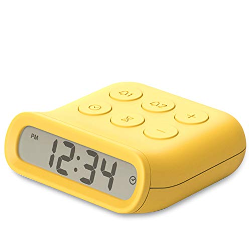 Lmedir Mini Alarm Clock for Bedroom Small Digital Clock Simple Operation with Snooze Timer Function, Two AA Batteries Can Be Used for one Year Suitable for Students Desks Bedrooms Study Travel
