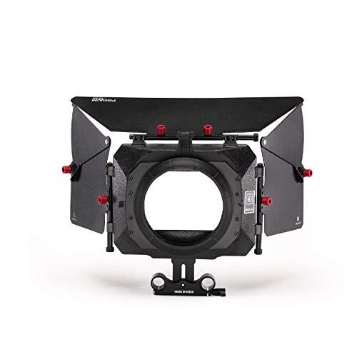 PROAIM Hochwertige Power DSLR Videokamera Matte Box mit Außendurchmesser 95mm | Inklusive Filterhalter und 15 mm Stangenadapter (P-MB-600)