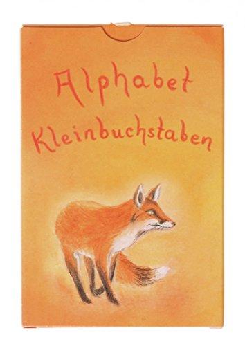 Grimms Spiel und Holz Design Alphabet Karten Kleinbuchstaben, 48 Karten