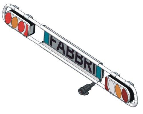 Fabbri 6950260 Fanaleria - Matrícula para portabicicletas Gringo Bici