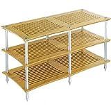 クアドラスパイア ナチュラルチェリー棚板・シルバーポール (2連タイプ)Quadraspire Q4DVTS/NC