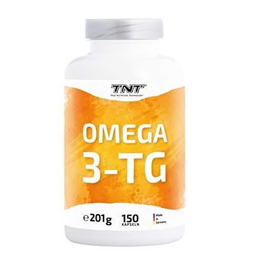TNT Omega 3 Kapseln Hochdosiert • Fischöl mit EPA & DHA ohne Zusätze • Laborgeprüft (150 Kapseln Plus)