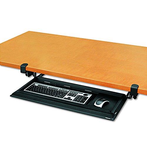Fellowes Designer Suites Desk Ready Keyboard Drawer (8038304), Black