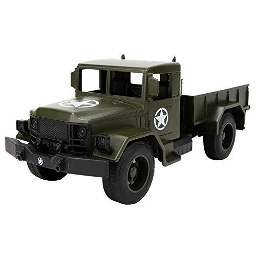 Simulazione Camion Modello Militare Auto Tirare Indietro Veicolo Giocattoli Auto Pressofuso Educazione Cognitivo Giocattolo Compleanno Natale Regalo per Oltre 3 Anni Bambini Ragazze Ragazzi (Verde)