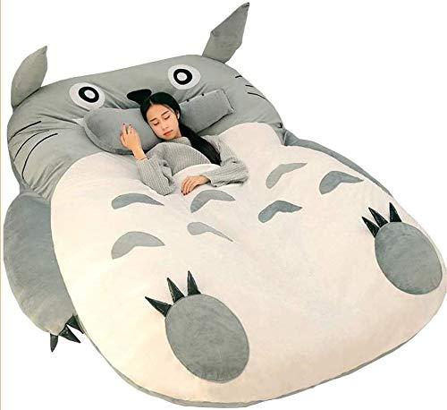 Cwypxl Totoro Tatami Schlafsofa Doppel Erwachsene Und Kinder Sitzsack Schlafsofa Weiche Warme Karikatur Totoro Tatami Schlafsack Matratze,120x190,130 * 200cm