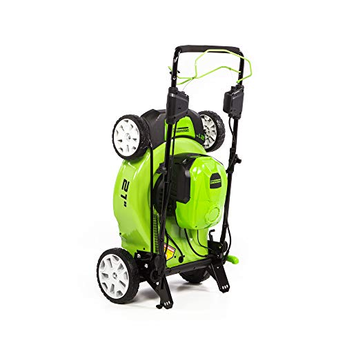Greenworks 40V 21-Inch Brushless Self-Propelled Mower 6AH Battery and Charger Included, M-210-SP